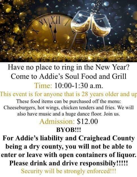 New Year's Eve at Addie's