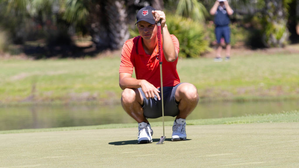 Naglic Leading SBC Men's Golf Tourney, Red Wolves Stand Fourth