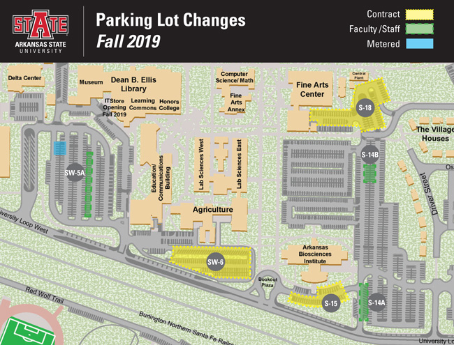 Parking Lot Changes for Fall 2019
