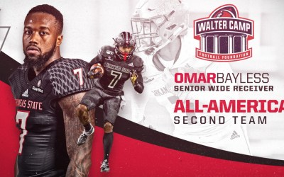 Bayless Named A-State's First Ever Walter Camp All-America Selection