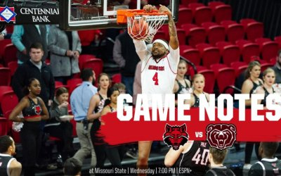 Game Notes: @AStateMB at Missouri State