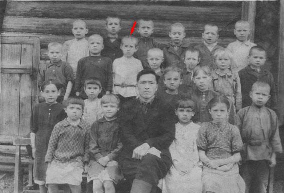 Кленовское, учащиеся 1948-49 гг., фото 18 мая 1949 г. Верхний ряд, 3-й слева, Иван Дмитриевич Игошев