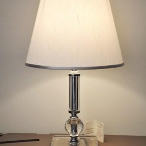 LAMPADA IN CRISTALLO  ARGENTATA