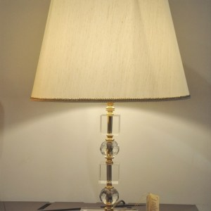 LAMPADA IN CRISTALLO  DORATA