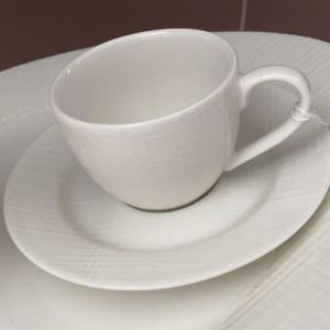 TAZZINE  CAFFE' CON PIATTINO SANTORINI  SET 6 PZ