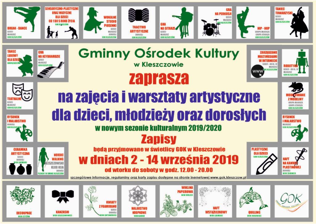 Oferta Gminnego Ośrodka Kultury w Kleszczowie