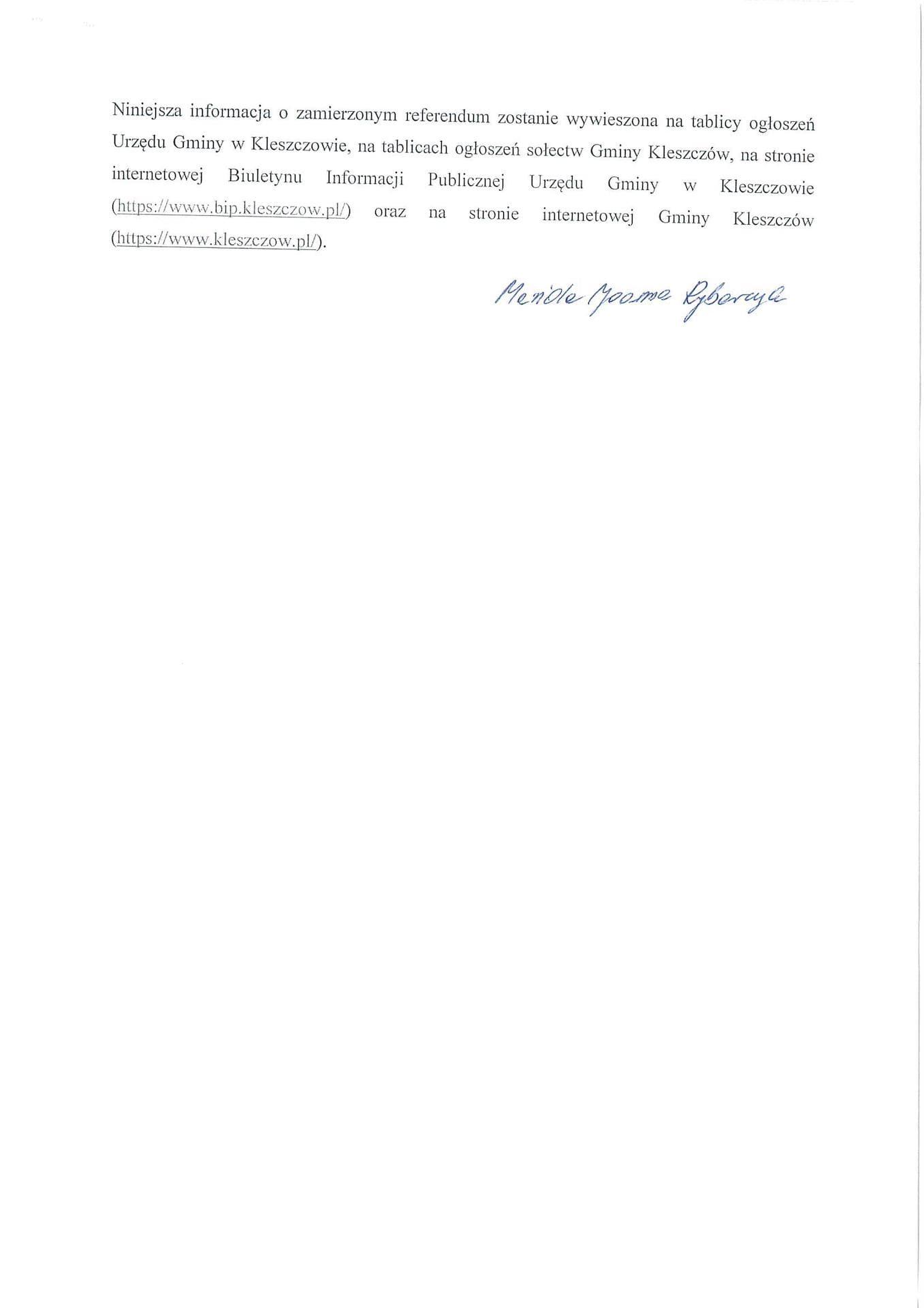 Powiadomienie o zamiarze wystąpienia z inicjatywą przeprowadzenia referendum strona 2