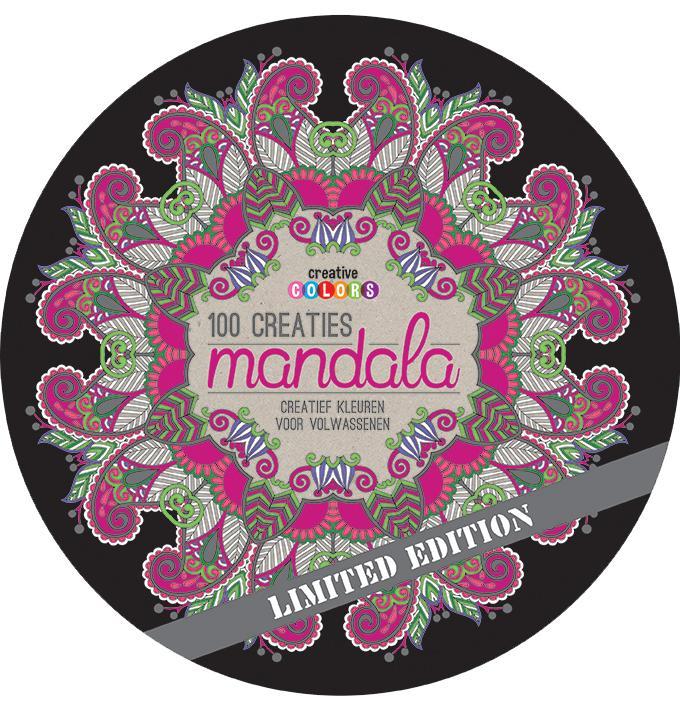 Ongekend Creative colors 100 Creaties Mandala, creatief kleuren voor BA-53