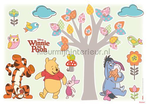 winnie the pooh bei 3pezzi set lettino culla copripiumino federa lenzuola angoli. Winnie Pooh Nature Lovers 14014h Adesivi Murali Disney Edition 3 Komar