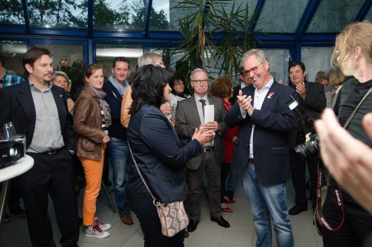 Die Siegerin und der Architekt des Sieges: Sonja Northing, Josef Gietemann