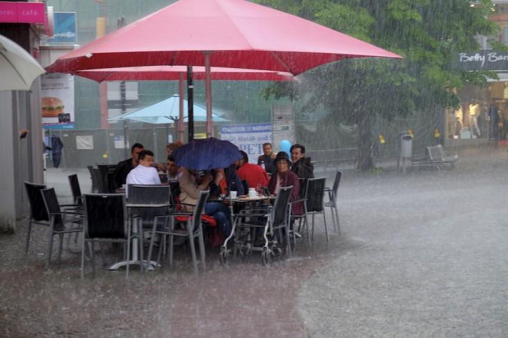 Niemals über Regen aufregen!