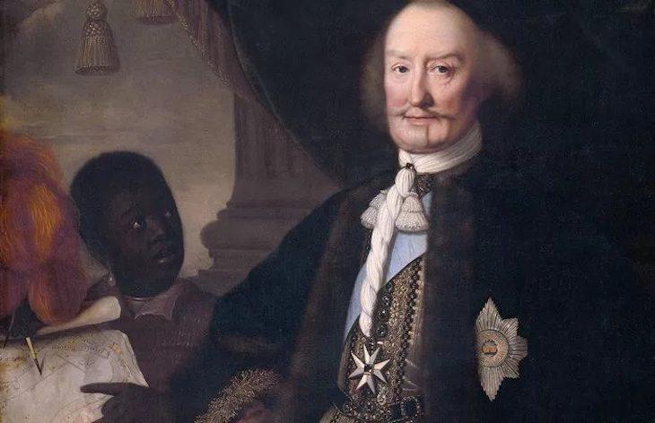 Johann-Moritz, wie Pieter Nason ihn malte – in Begleitung eines farbigen Dienstboten