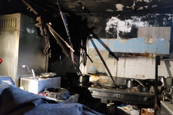 Zerstört! Die Küche von Lin's Wok – das Restaurant bleibt vorerst geschlossen