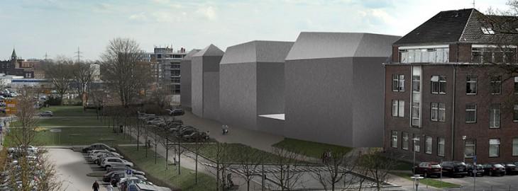 Wahrscheinlich kommen noch ein paar Fenster dazu, mit Sicherheit aber zwei Lkw-Ladezonen – das Minoritenplatz-Projekt einmal ohne Chi-Chi (Bild © ad)