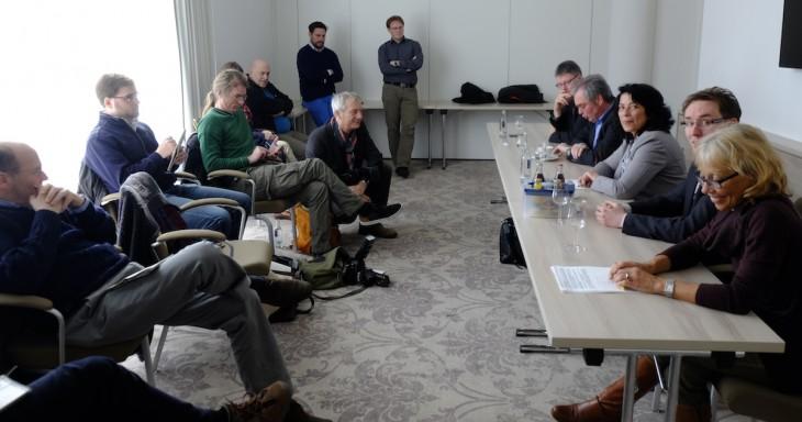 Historische Pressekonferenz: Mehr Gemeinsamkeit war selten