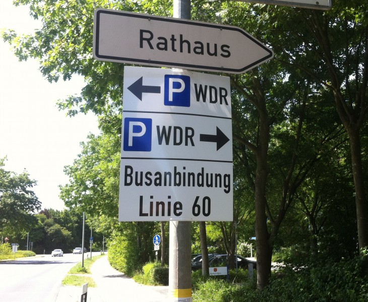 Bei den Parkplätzen kann schon mal nichts schief gehen (für WDR-Mitarbeiter) (Foto: © Stadt Kleve)