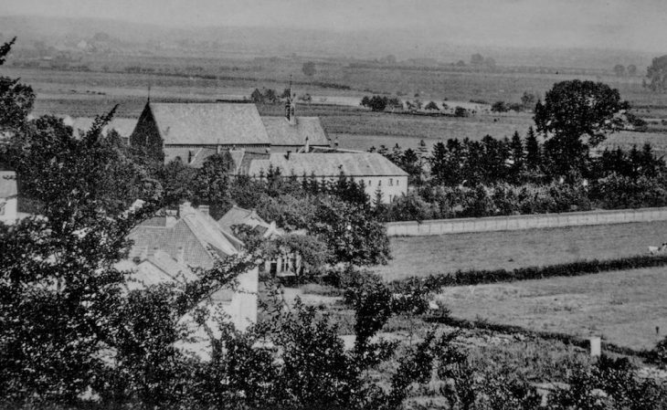 Blick aufs Spyckklösterchen in Richtung heutiges Industriegebiet (1906)