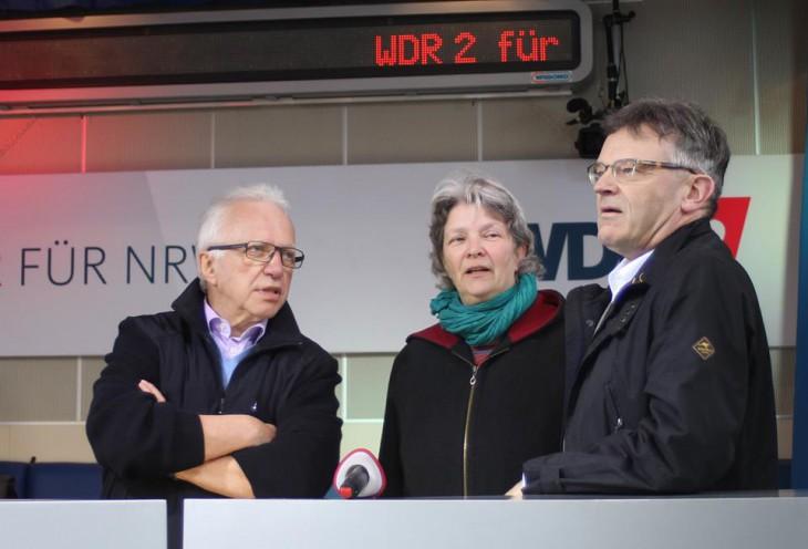 Zwischen Bürgermeister und Tagungsstättenleiter behielt sie klaren Kopf: Wiltrud Schnütgen (Foto: Kleve Marketing)