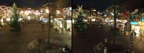 Weihnachtsbeleuchtung 2007 und jetzt (Kopenhagen-Stil)