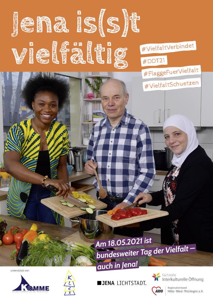 Jena is(s)t vielfältig - Plakat zum Tag der Vielfalt