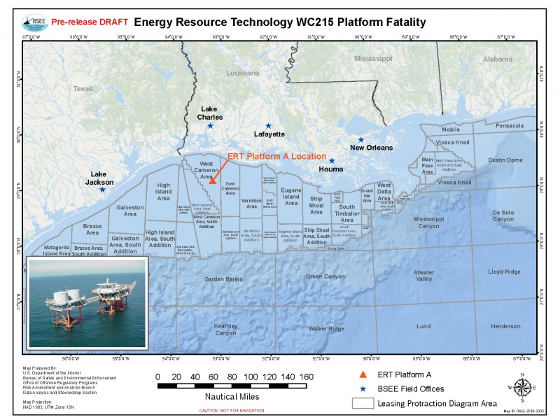 Worker killed on oil platform in the Gulf of Mexico on ports in gulf of mexico map, ships in gulf of mexico map, buoys in gulf of mexico map,