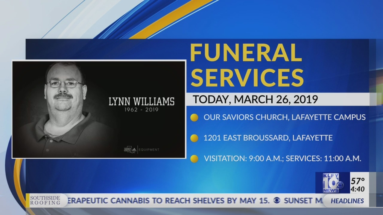 Funeral for longtime Ragin Cajun Equipment Manager Lynn Williams begins today
