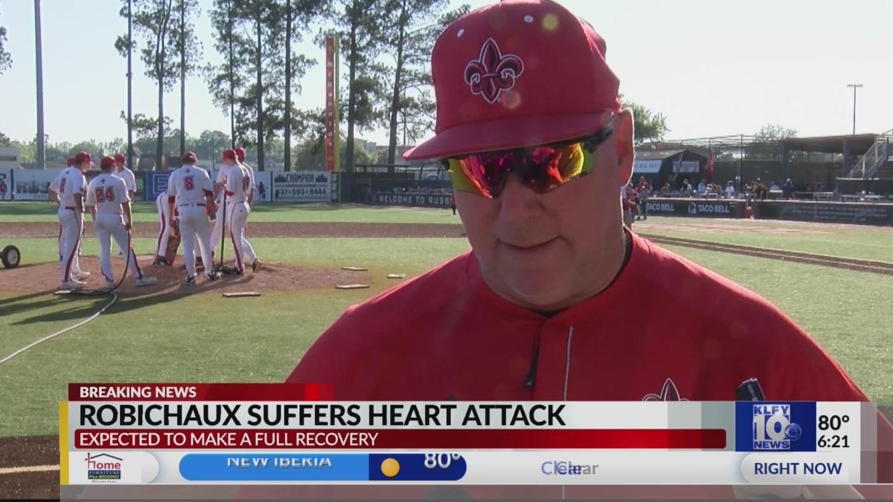 Coach Robicheaux heart attack