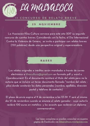 """II Concurso de Microrrelatos """"La Malvaloca"""""""