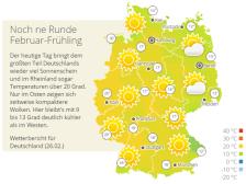 Wetterkarte Deutschland am 26.02.2019