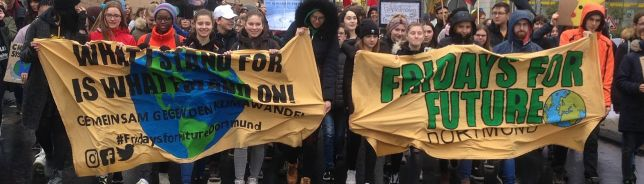 Leitbanner 15.03.2019 Friday For Future in Dortmund