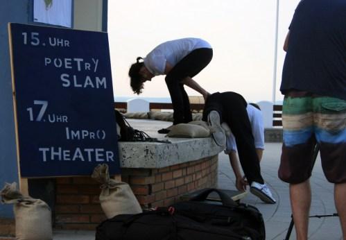 …das Impro-Theater im Anschluss kommt zumeist mit weniger Worten aus. (Foto: C.Koch)