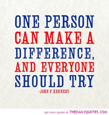 one-person-can-make-a-difference-john-f-kennedy-quotes-sayings-pictures