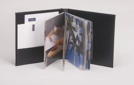 Custom Menu Covers Case Wrapped Turned Edge Hyatt