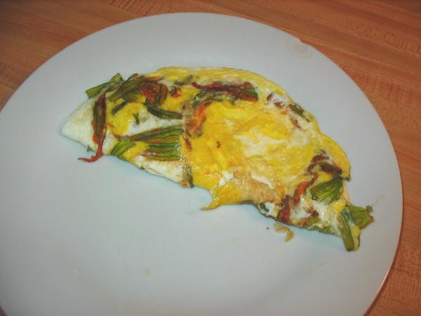 Zucchini Blossom Omelet