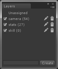 Alternative Layer Manager in Unity3D