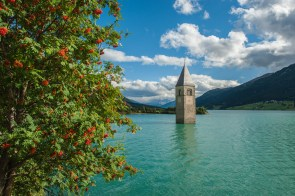 Church in lake of Reschen