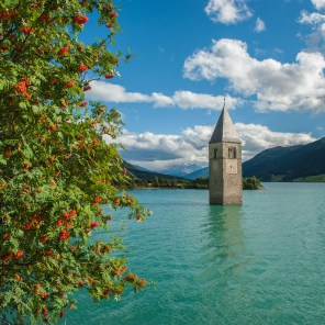 Church in lake of Reschen