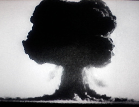 Mushroom cloud--not what's supposed to happen at rocket launches
