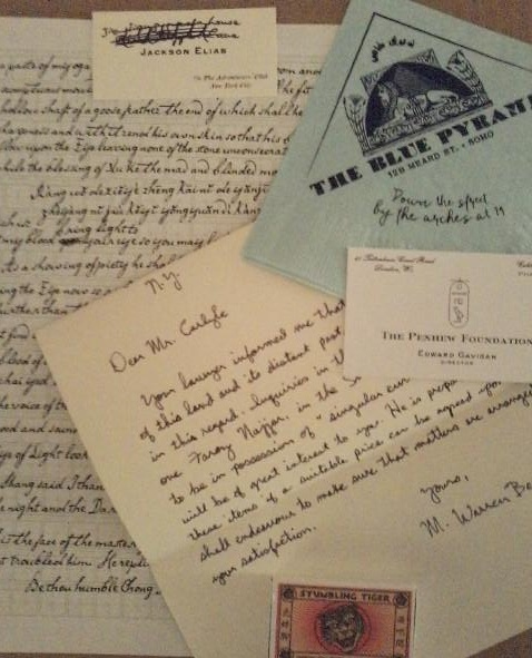 Props: Letters, translations, and a cocktail napkin