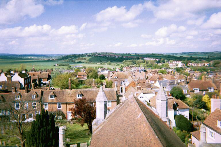 The view from the church tower