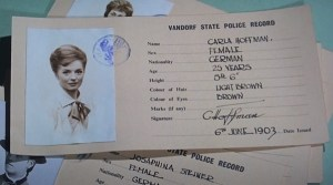 Carla's registration card
