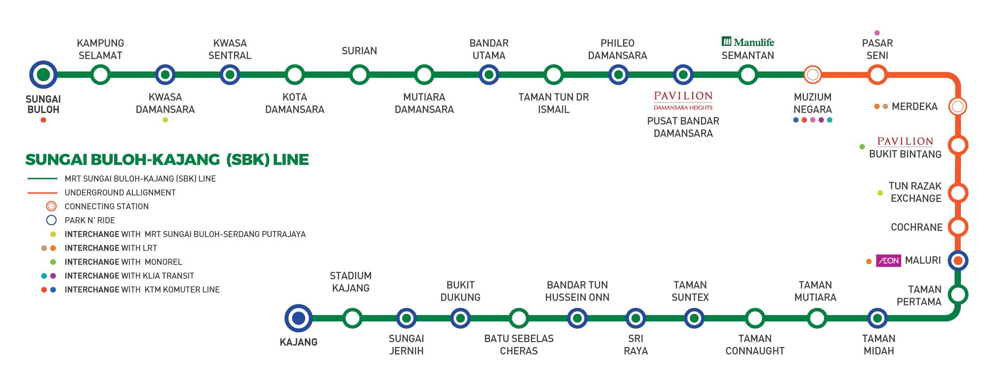 MRT Sungai Buloh-Kajang (SBK) Line | KL Sentral