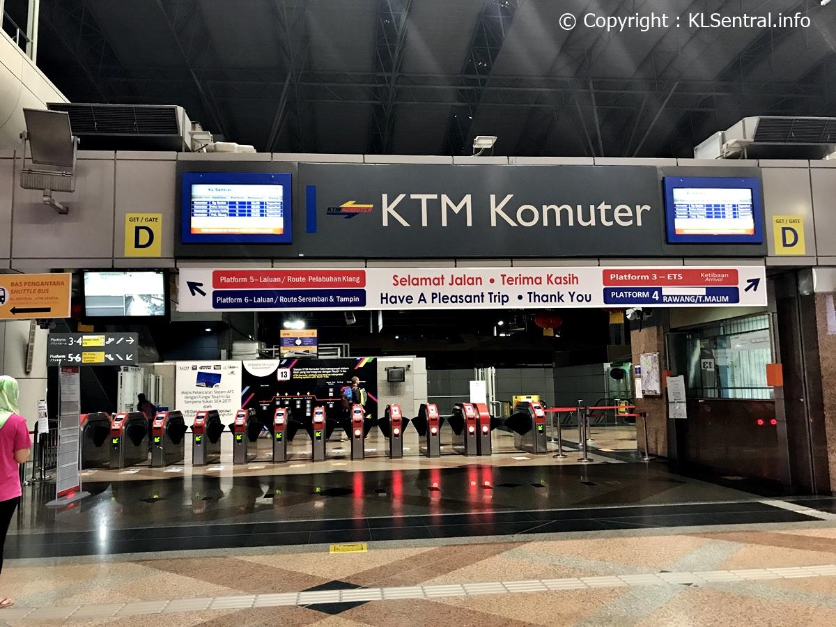 KTM Komuter Station at KL Sentral