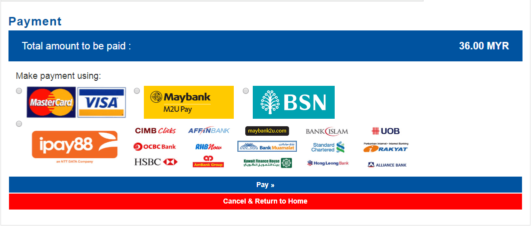 KTMB ETS Ticket Online Payment Method