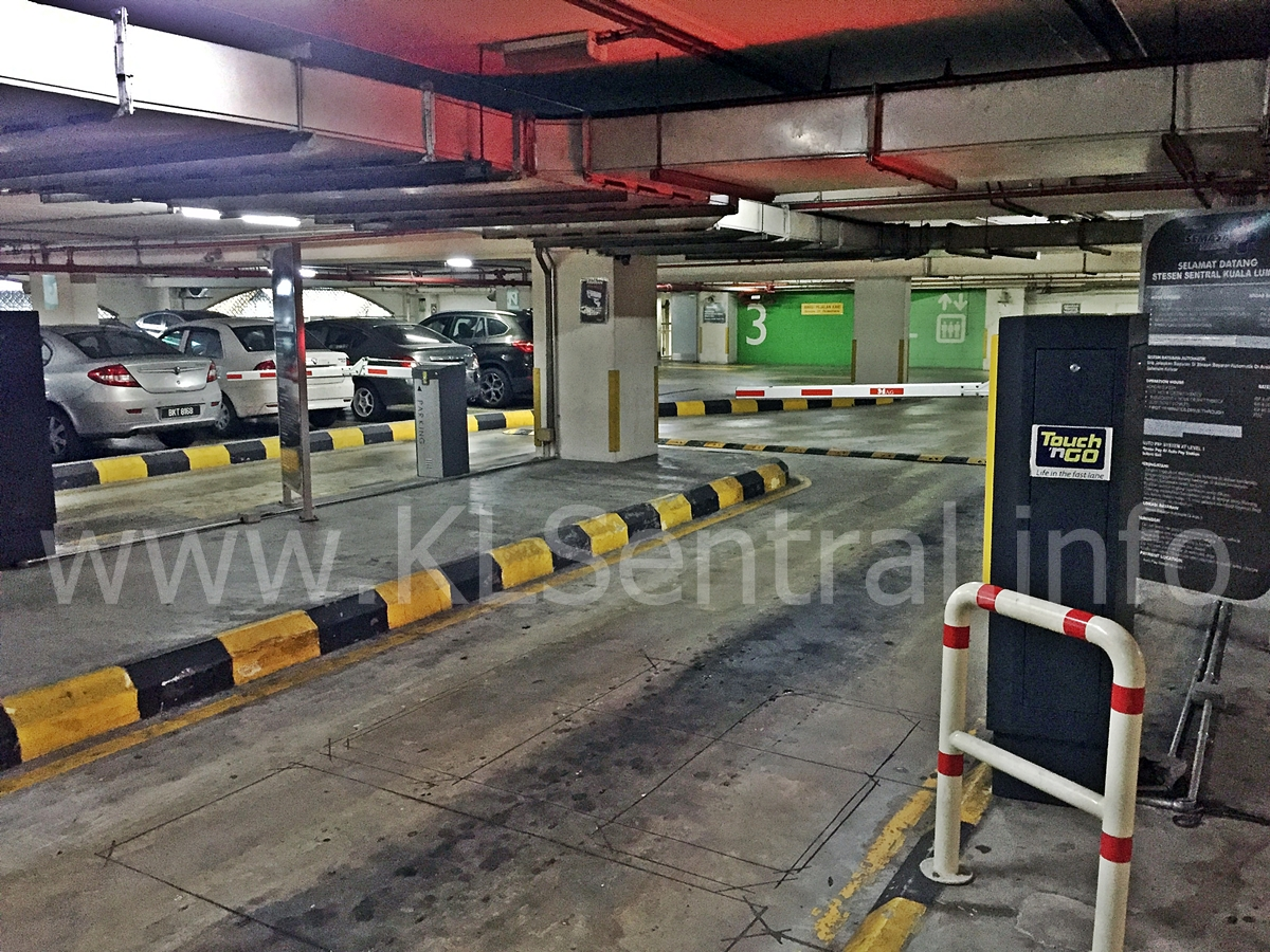 KL Sentral Parking Entrance TouchnGo