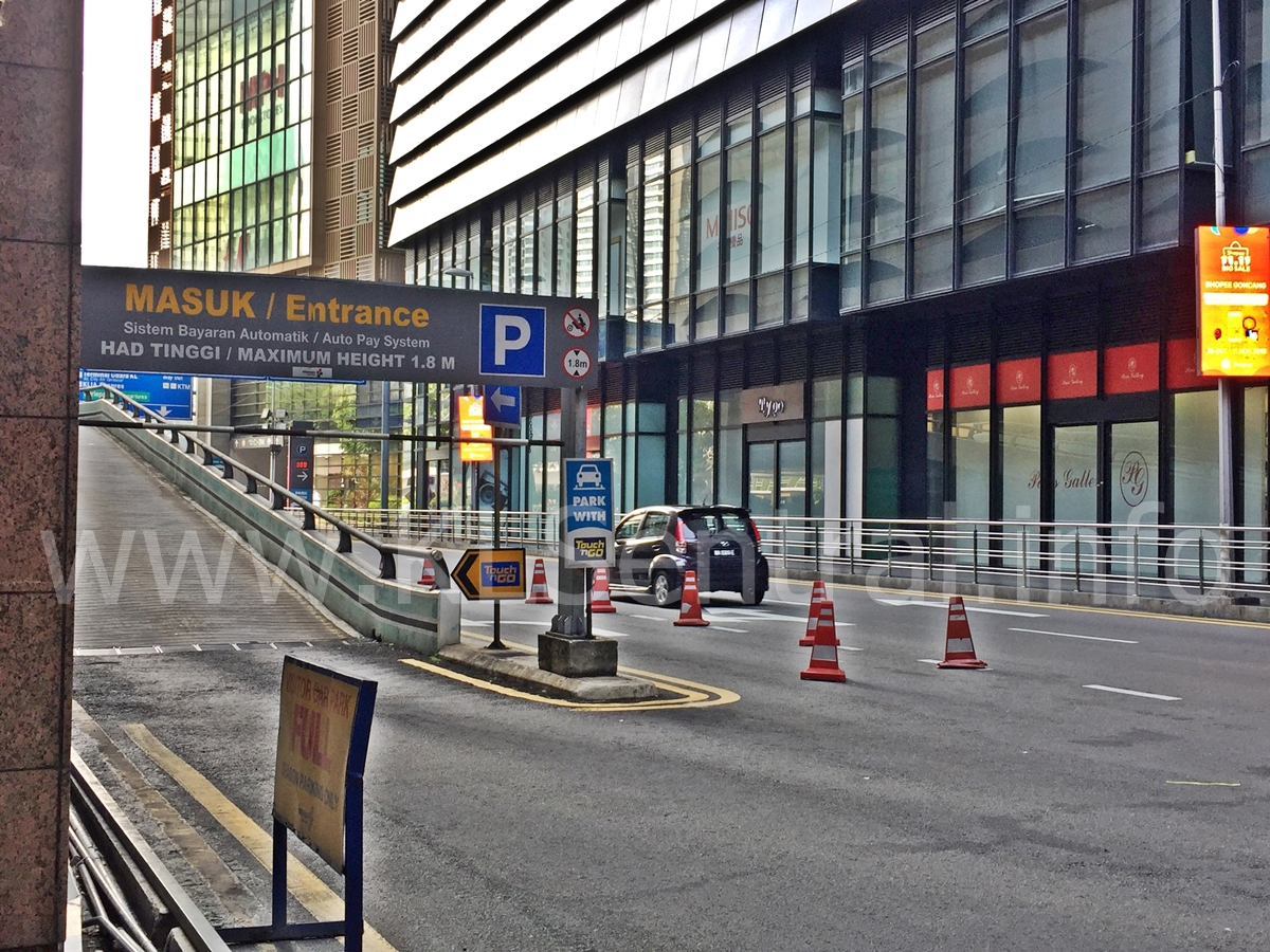 KL Sentral Parking entrance from Main Road