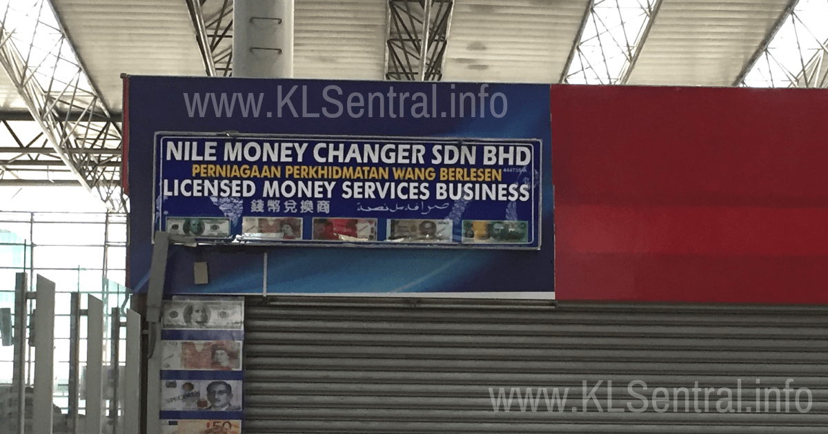 Nile Money Changer KL Sentral branch Level 2