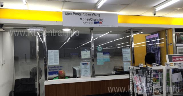 Money changer agent travelex KL Sentral branch inside newsplus