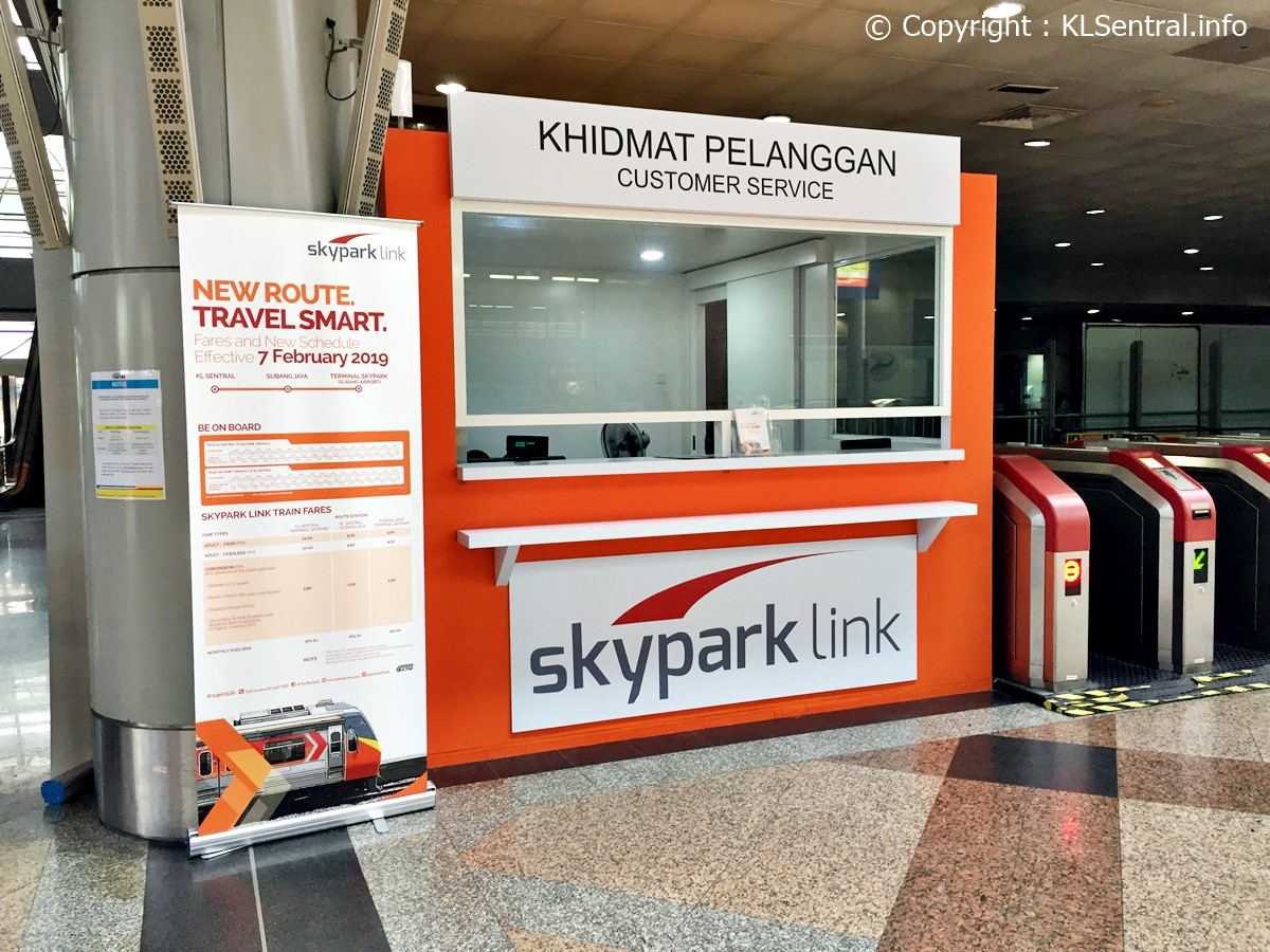 SkyPark Link Ticket Counter in KL Sentral