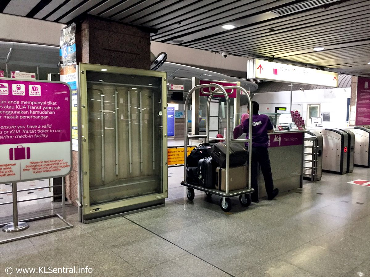 KL Sentral Baggage Check-In Counter